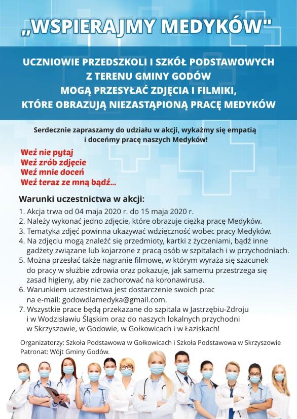 Plakaj akcji wspierajmy Medyków